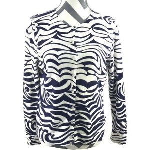 Lilly Pulitzer Zebra L/S Button Cardigan Cotton
